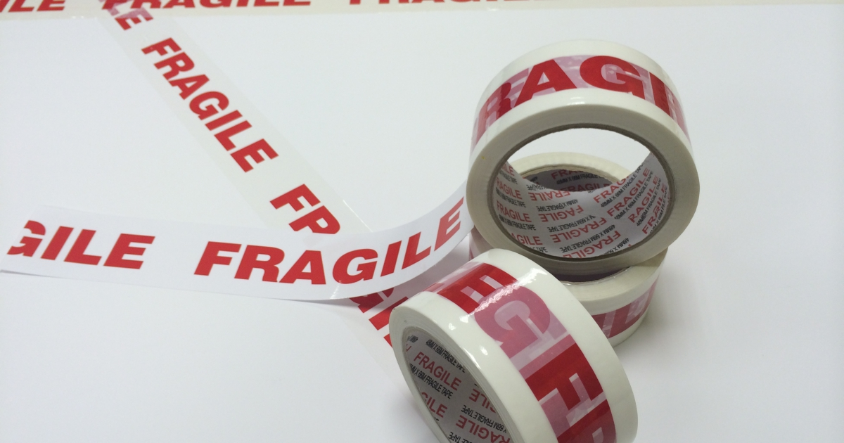 Fragile Tapes have arrived at Contact Packaging